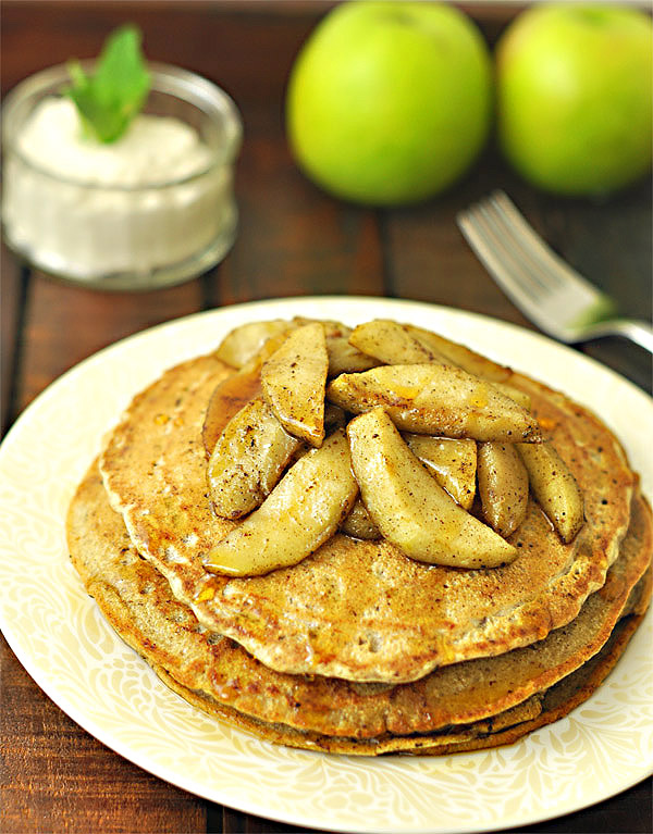 Apple Cinnamon Buckwheat Pancakes