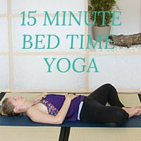 15 MINUTE BED TIME YOGA THUMBNAIL